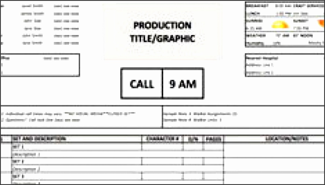 Download a Free Call Sheet Template to Get Your Crew on the Same Page