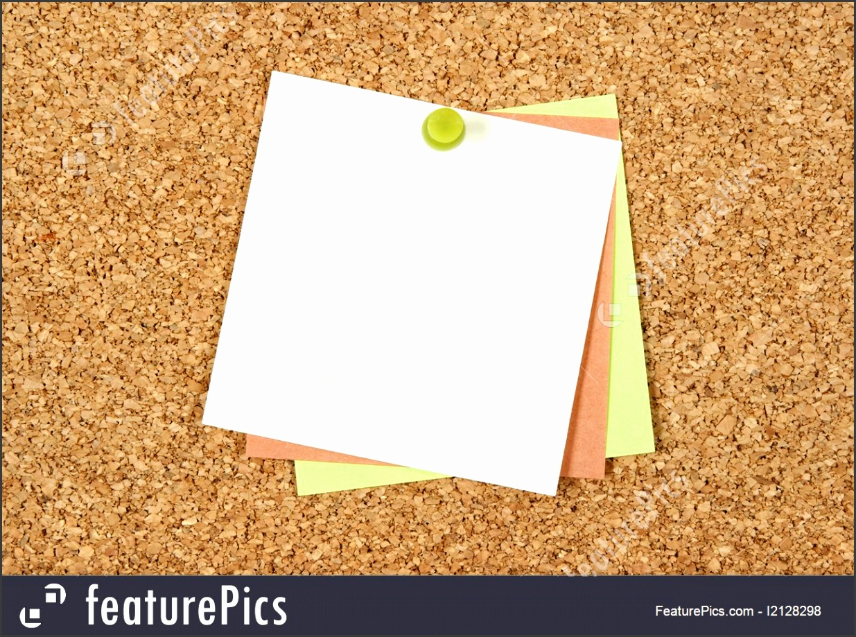 Templates Tree blank post it notes pinned to cork board