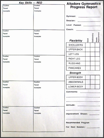 Gymnastics Lesson Plan Template Gallery Template Design Free Download
