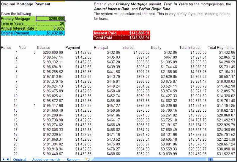 8 printable amortization schedule templates