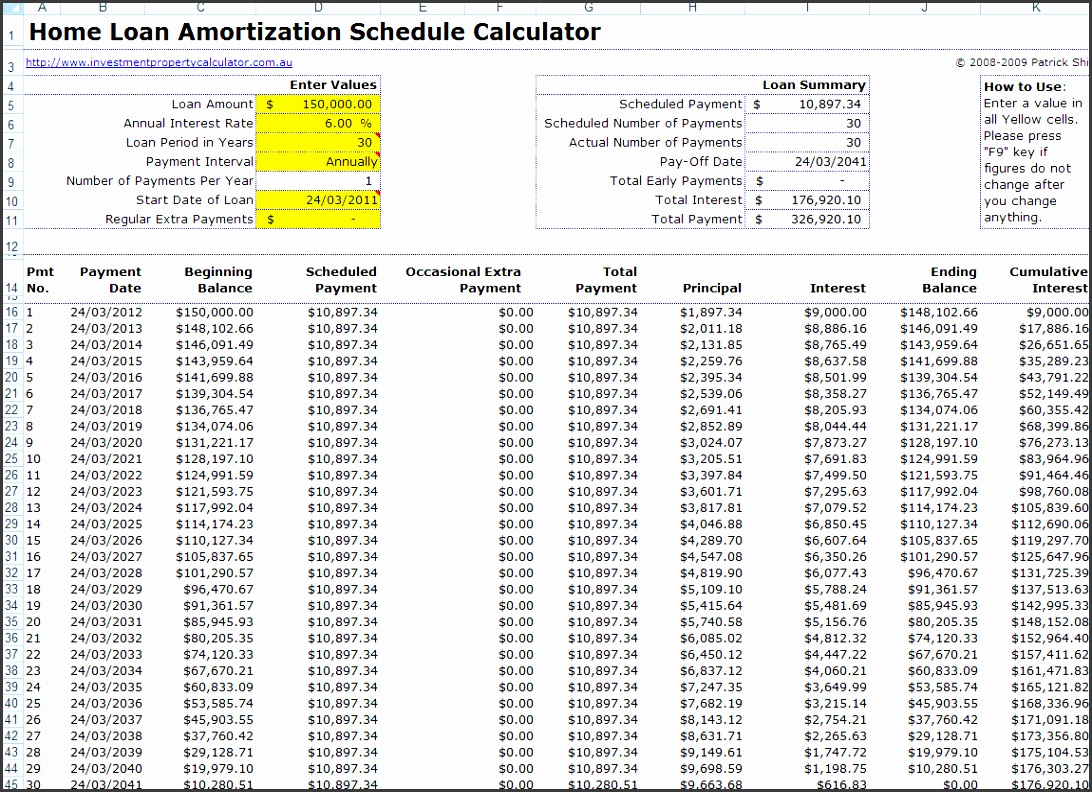 Amortization Schedule For Car Loan: 8 Printable Amortization Schedule Templates