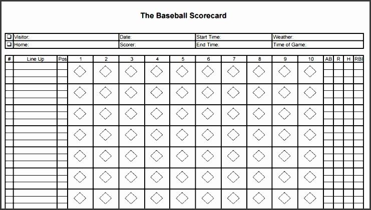 7 Printable Baseball Scorecard Template - SampleTemplatess ...