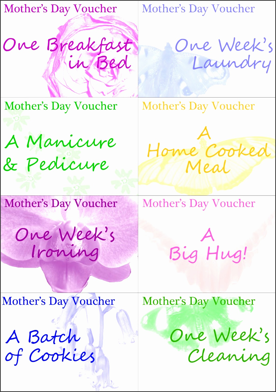 Our author has been published Colorful printable vouchers
