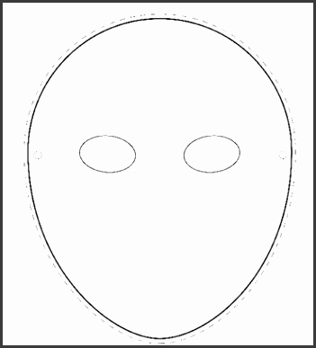 Paper Face Mask Template Template Examples