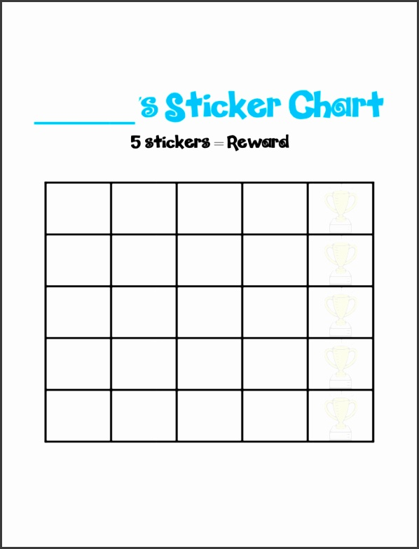 Printable Sticker Charts And Reward Charts For Toddlers