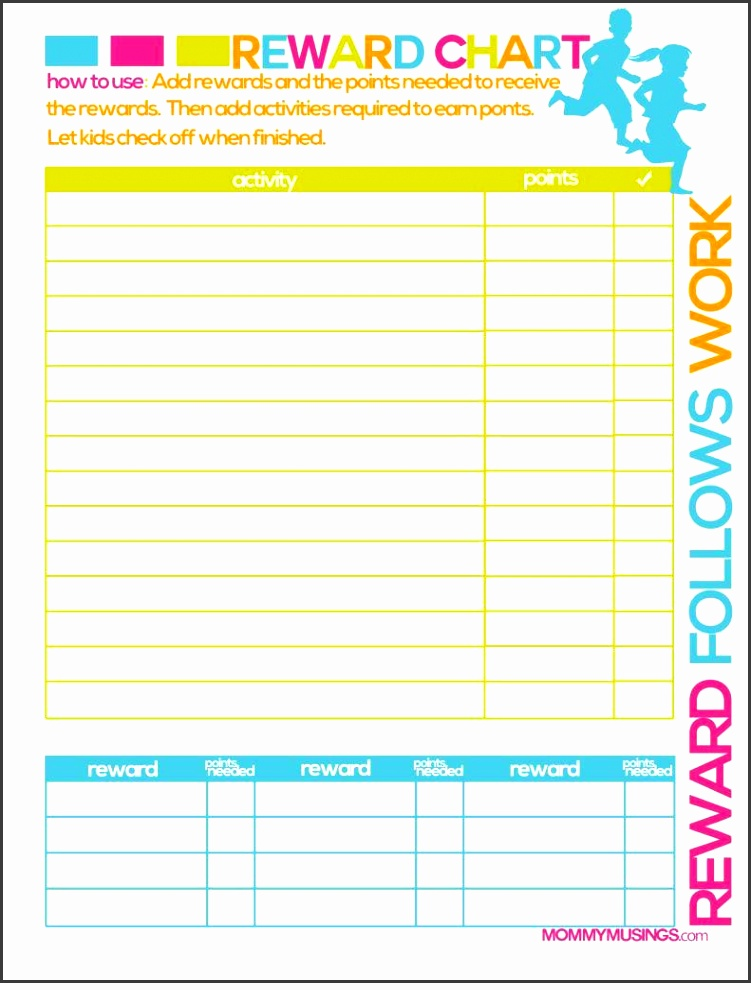 Printable Rewards Chart Template Printable Chart Printable Rewards Chart Template 2 9520