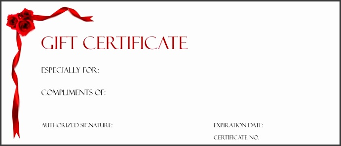 Template Free Gift Certificate Template Certificate Templates Ribbon Gift Certificate Template Printable Gift Certificate