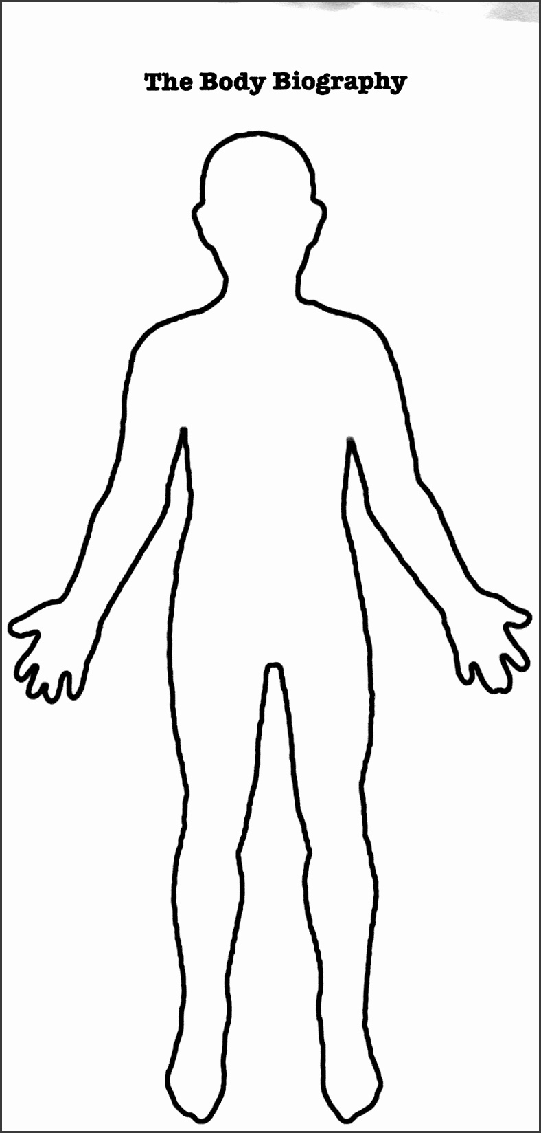 It's just a picture of Inventive Printable Human Body Outline Template Pdf
