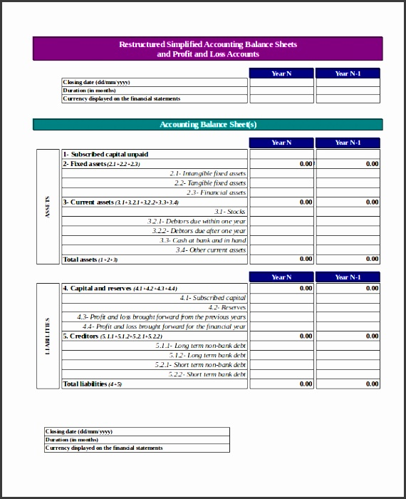 Profit And Loss Account Template Excel  Profit And Loss Account Sample