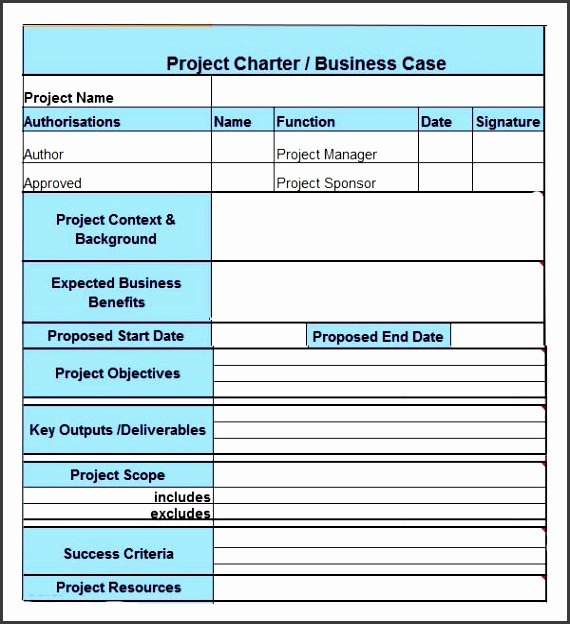 project charter Example 390—422 pixels Project Management method statements template