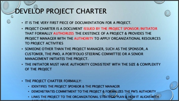 DEVELOP PROJECT CHARTER 3