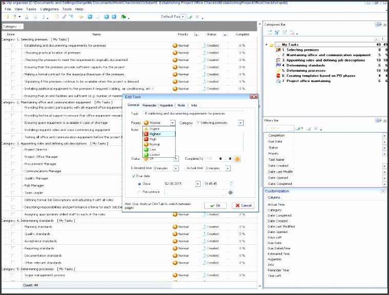 Establishing Project fice Checklist