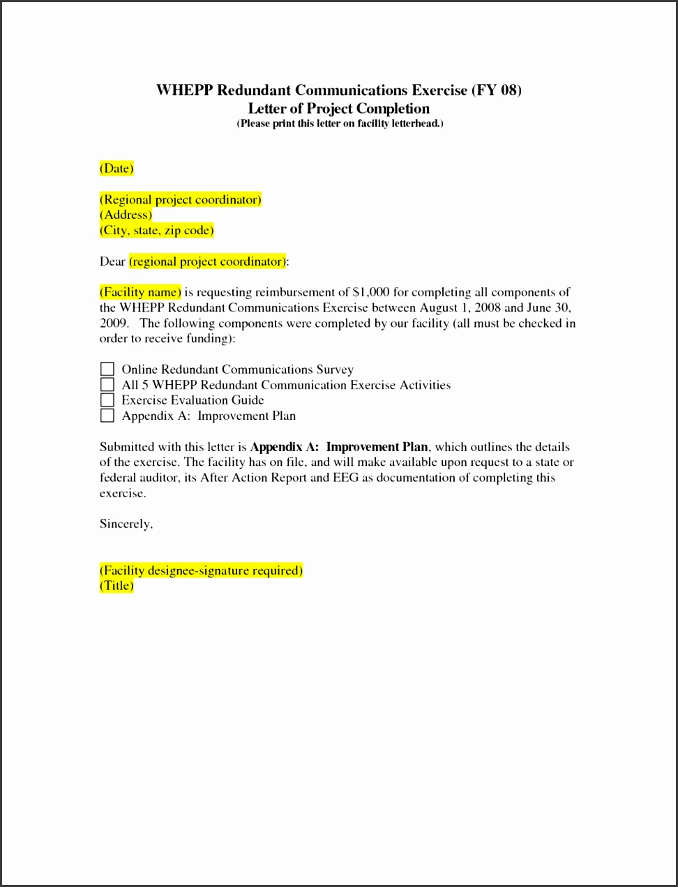 project pletion letter sample coordination checklist report 1024x1325