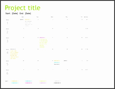 Project planning timeline