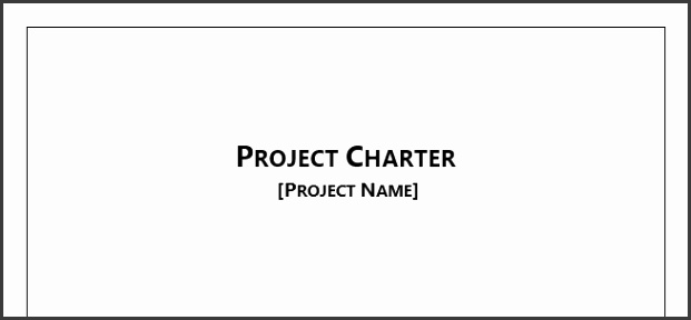 Project Charter Template for Microsoft Word 2013