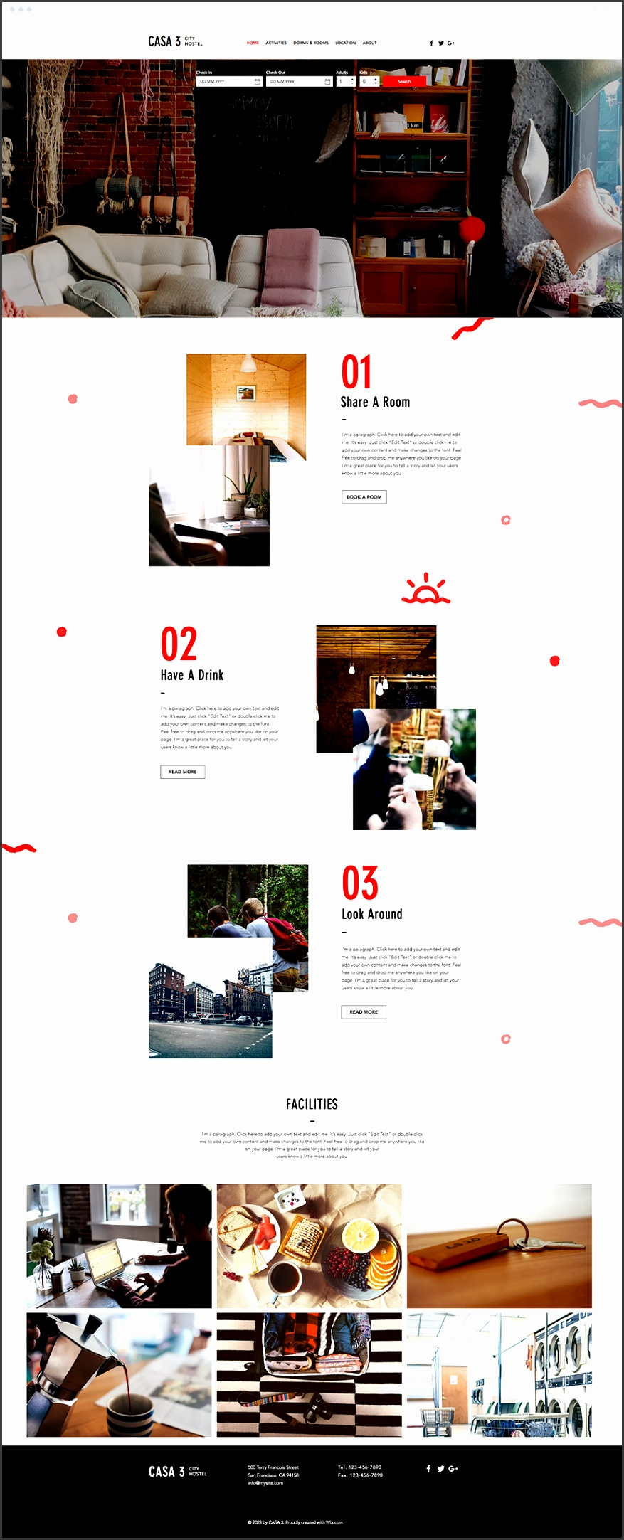 City Hostel Website Template