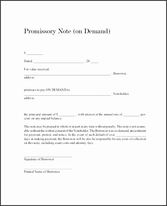 10 promissory note template texas