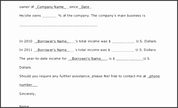6 proof of income letter template - sampletemplatess