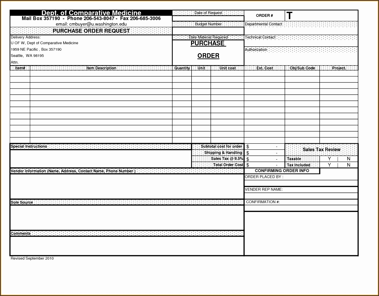 Purchase order form Beautiful 8 order form Template Excel