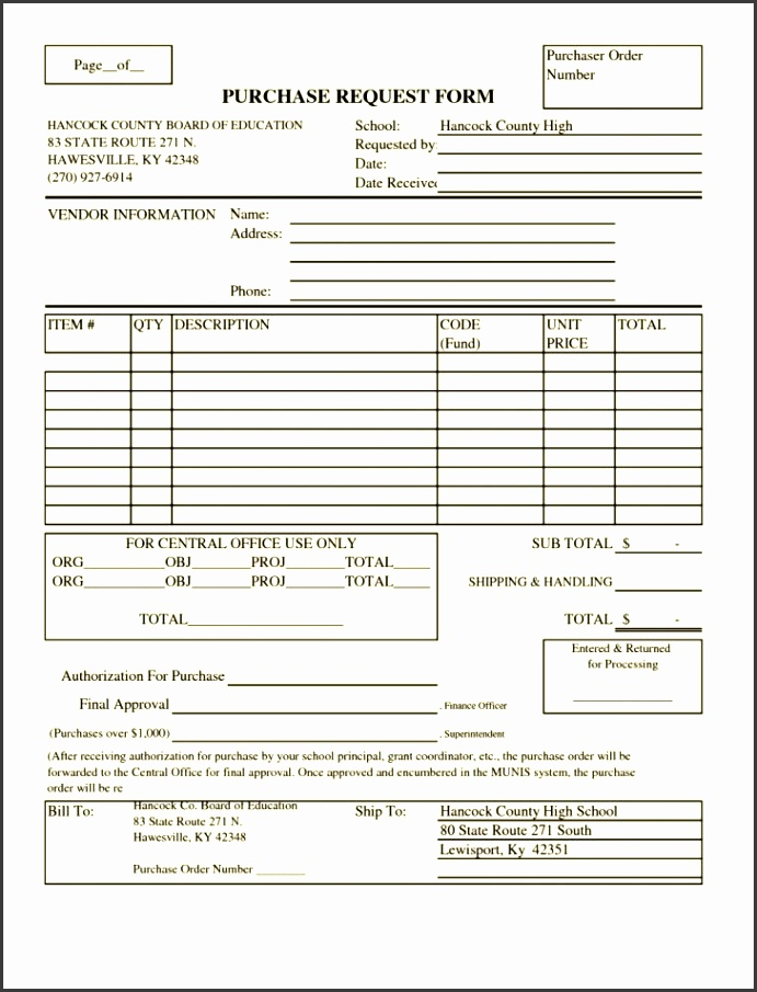 6 Purchase Request Form Template Free Sampletemplatess