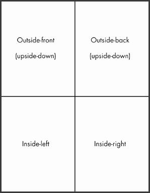 Quarter Fold Card Templates Exolgbabogadosco Quarter Fold Template