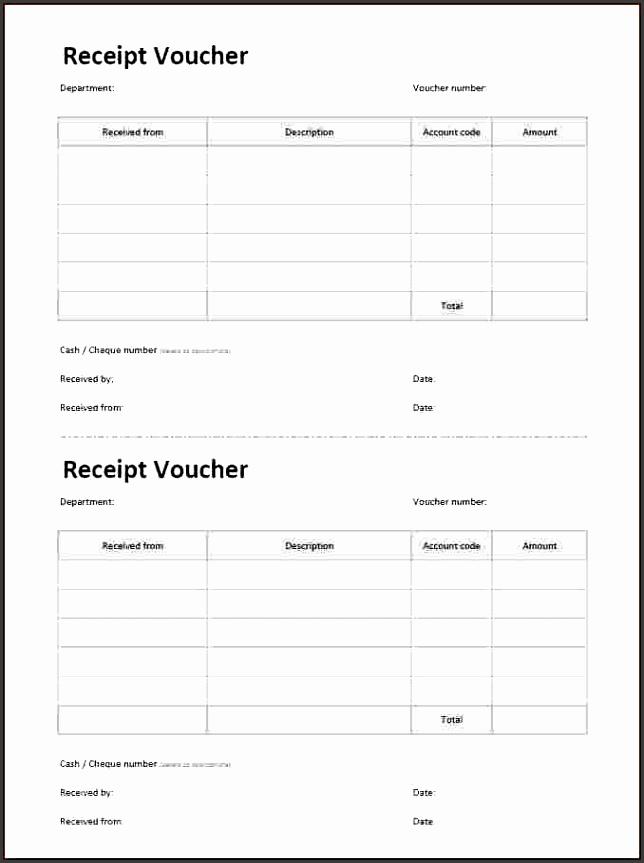 8 cash receipt voucher format excel free Rental format receipt