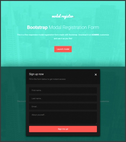 Bootstrap Modal Registration Forms 2 Free Templates
