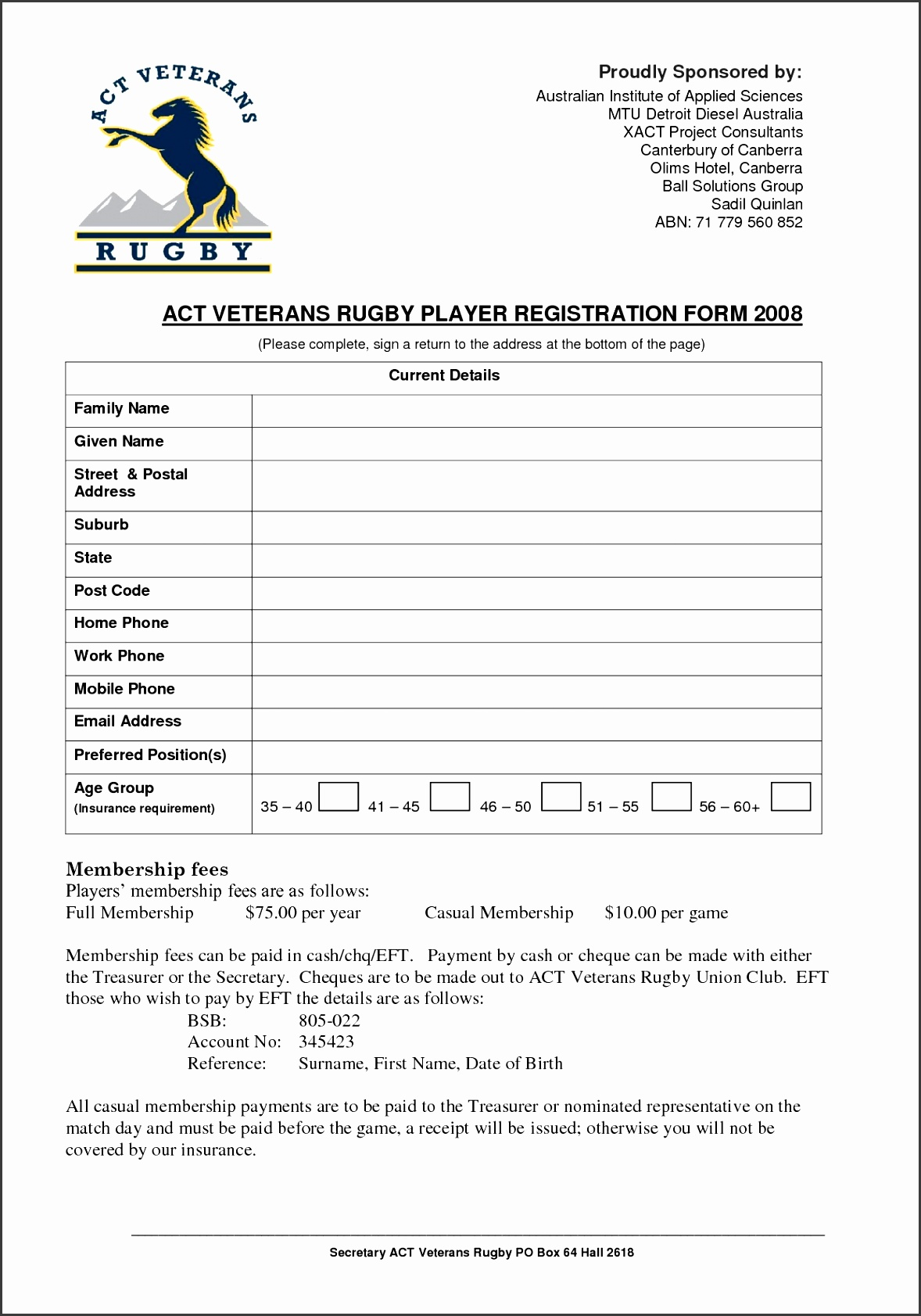 register form templates