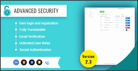 Advanced Security PHP Register Login System CodeCanyon Item for Sale
