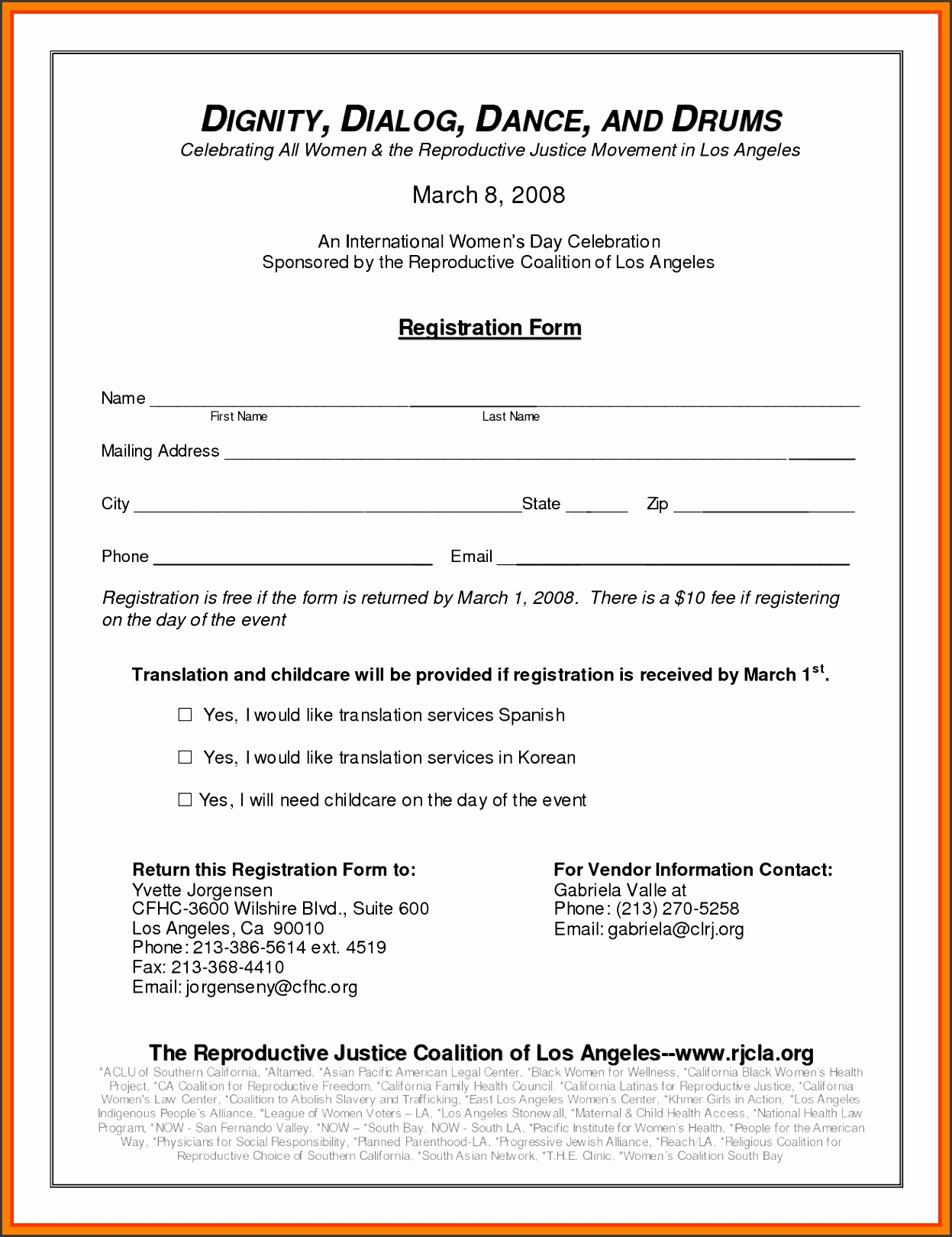 event registration form template registration form template 6