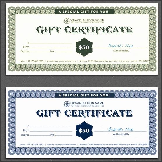 7 Restaurant Gift Certificate Template Sampletemplatess