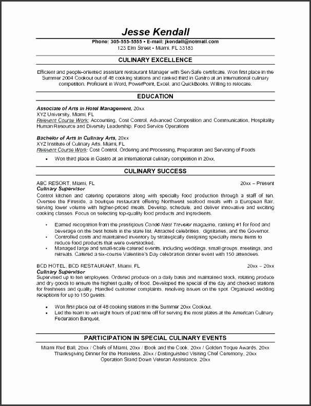 culinary resume template culinary resume template culinary resume resume cover letter templates professional culinary resume template
