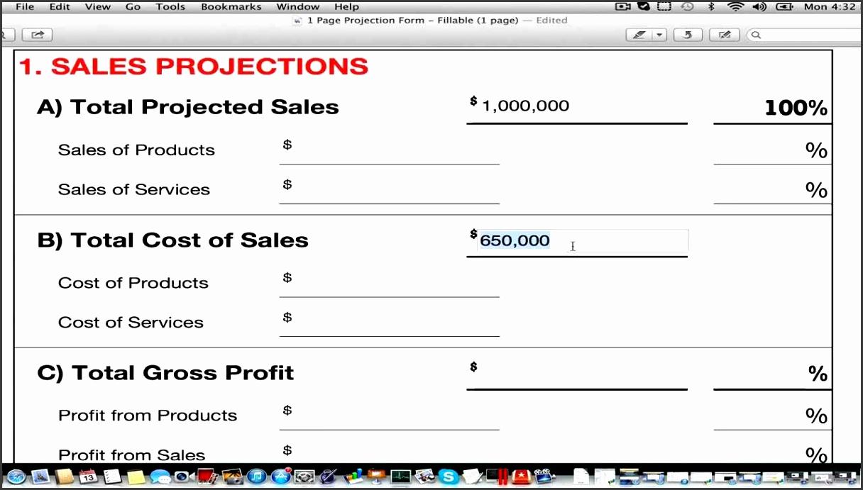 8 revenue projection template