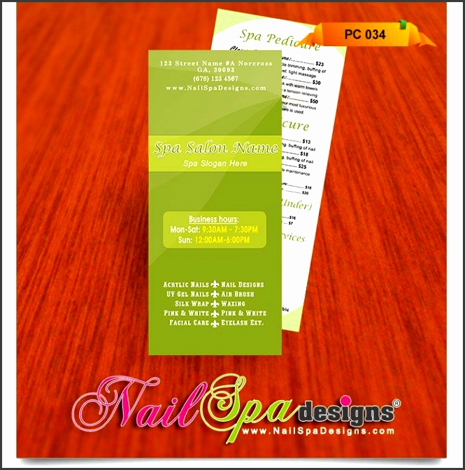 Price List template for Nail Salon Visit catalog for