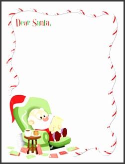 Printable Santa Letter Template Dear Santa