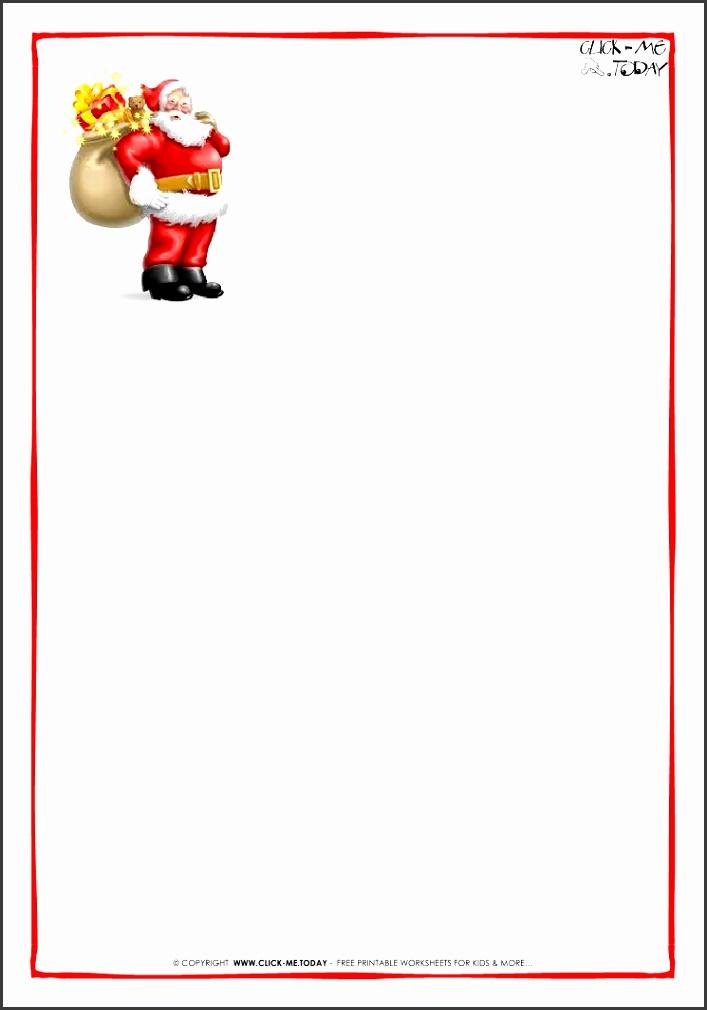 Printable Santa Letter Templates