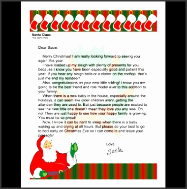 New Printable Santa Letters