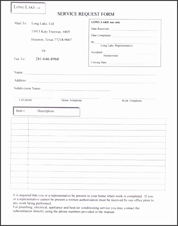 8 Service Request Form Template Excel Sampletemplatess