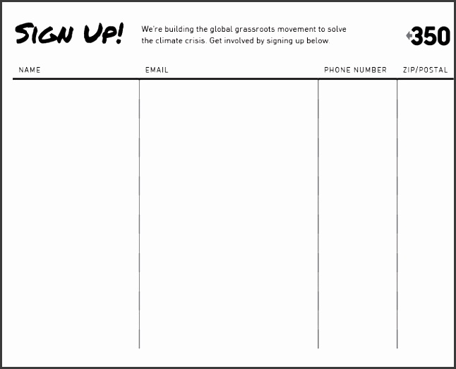 Signup Sheet Templates Sign Up Sheets 64 Free ...  Free Sign In Sheet