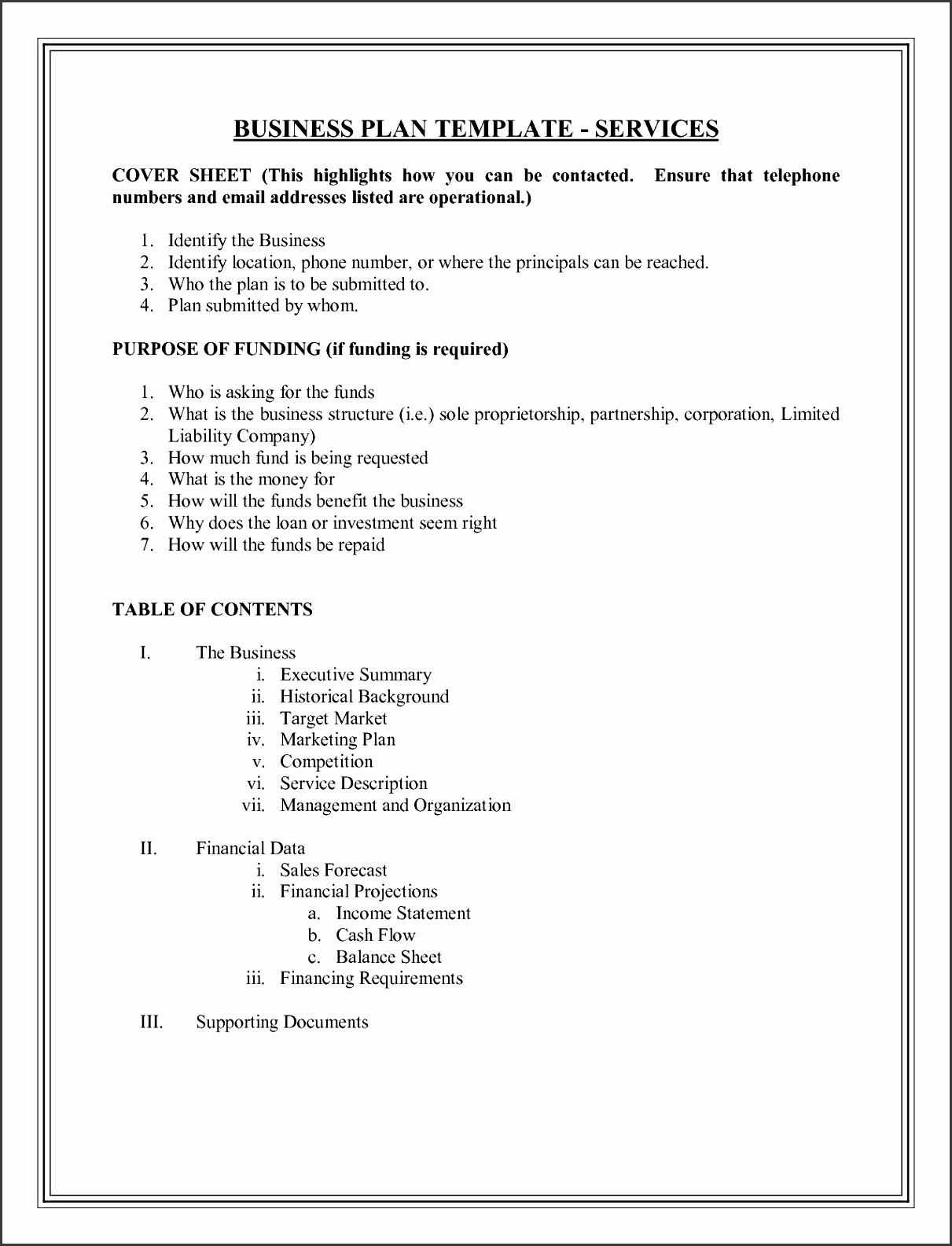 Business Plan Template Write Your Free Business Proposal View r
