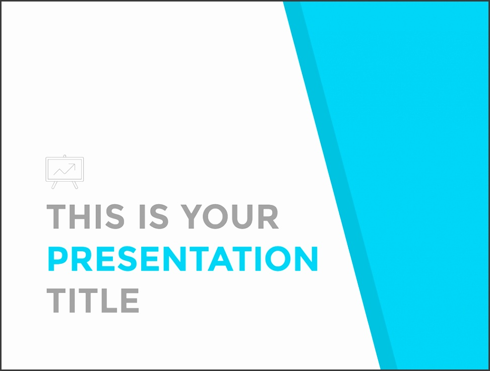 Free clean and simple presentation Powerpoint template or Google Slides theme