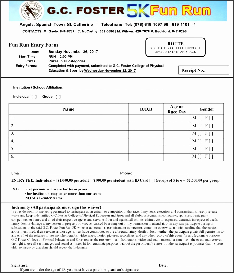 8 sports camp registration form template for Sport registration form template