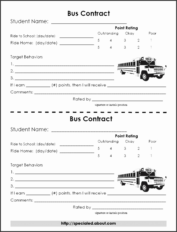 Bus Behavior Contract Since children in my class are the school s responsibility and to a