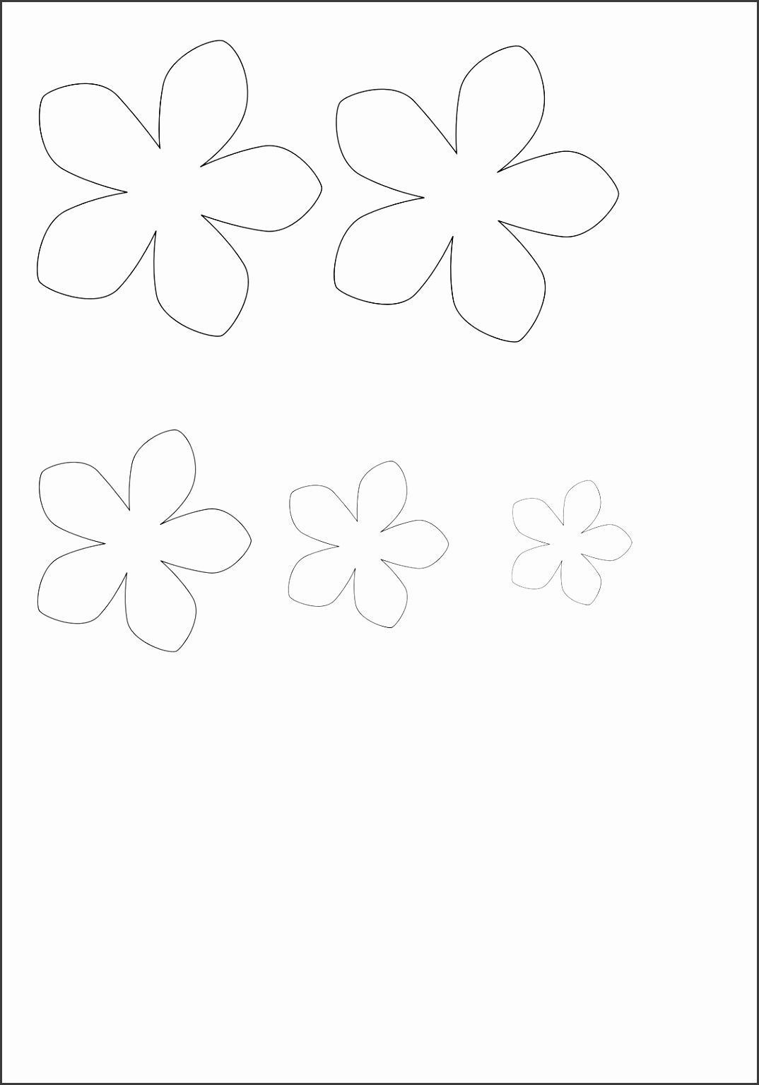 Flowers For Sunflower Petal Template Printable Coloring Pages Free Place Cards Birthday Full Size