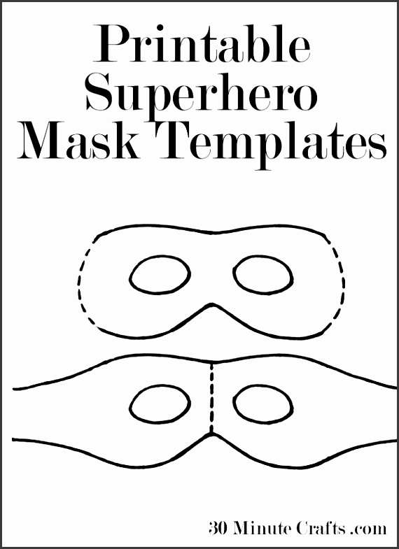 Superhero Mask Template   Sampletemplatess