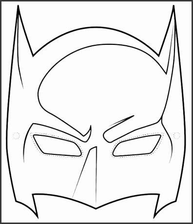 Batman Superhero Mask Template Printable sketch template