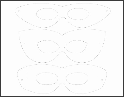 Printable template 3 mask designs