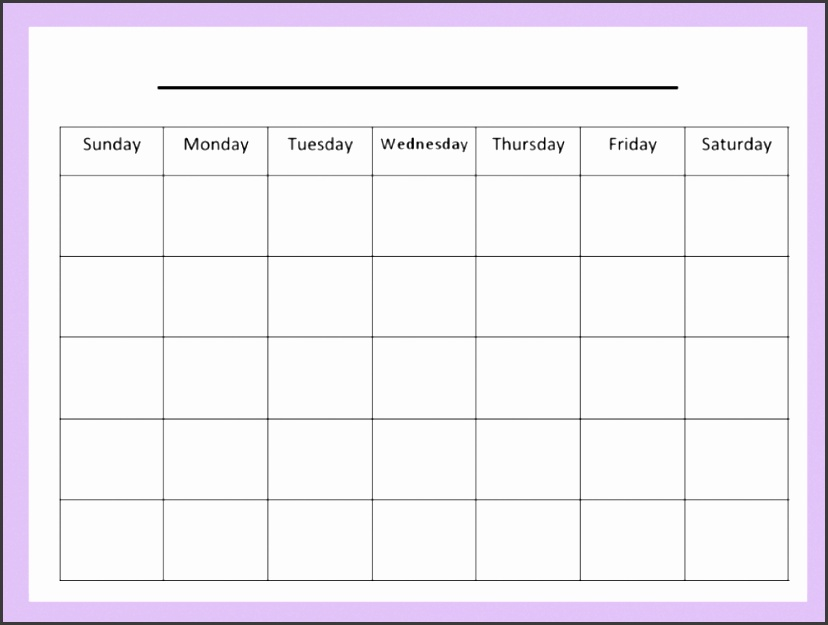 Blank Chart Template For Teachers