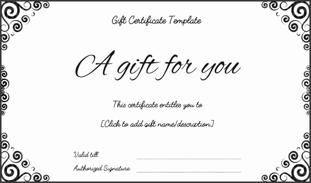 Birthday Present Template Present Certificate Templates Gift Certificates Templates Free Printable