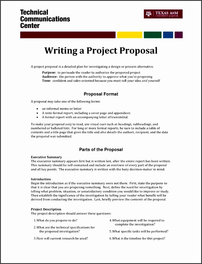 Project Proposal Format Informal Proposal Letter Example